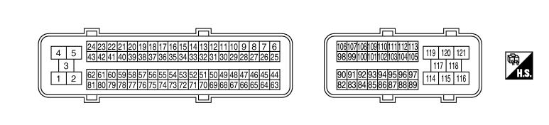 Схема и распиновка ECU FX45/FX35 VK45DE/VK35DE