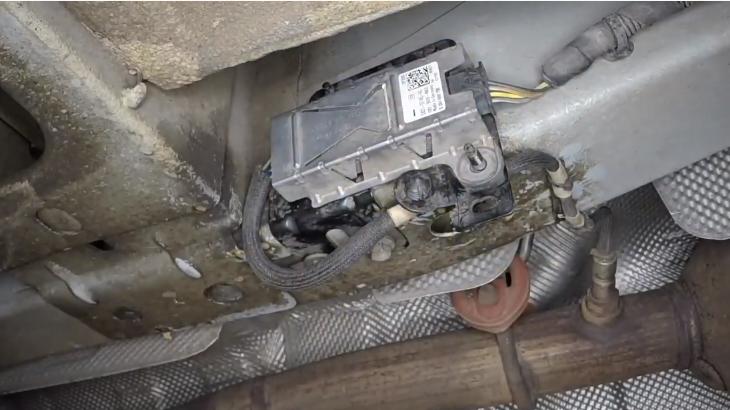 Форд транзит дизель 2013-17 замена датчика кислорода после катализатора