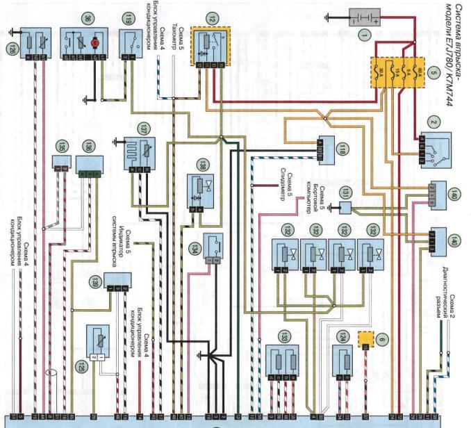 схема системы впрыска рено симбол