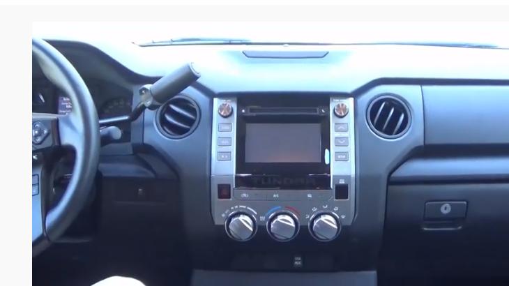Снять магнитолу Тойота Тундра 2014 - 2019