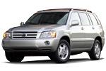 Какие лампы применяются на Toyota Highlander - тип всех ламп