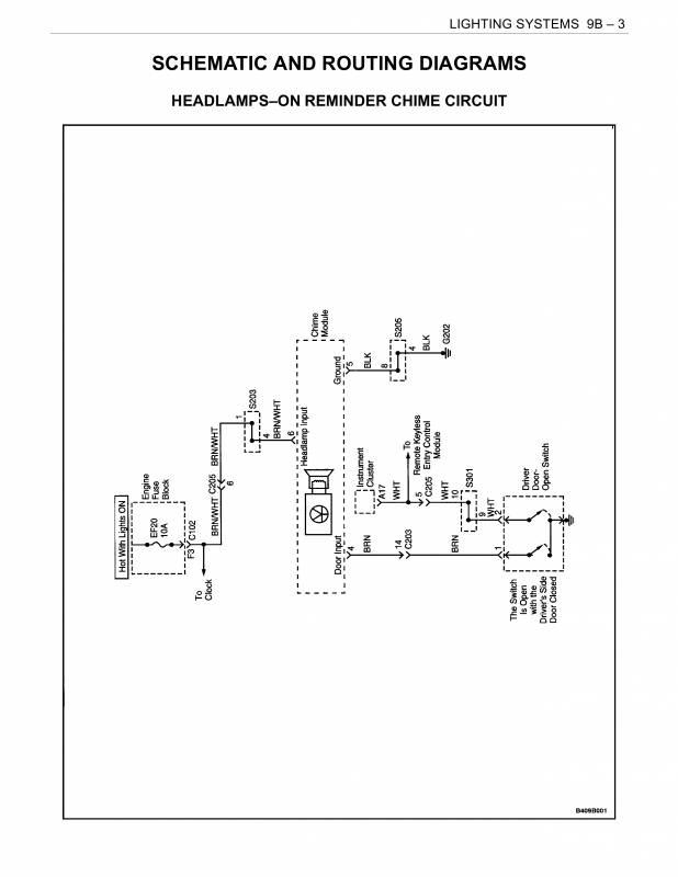 схема звукового напоминания о включенных фарах