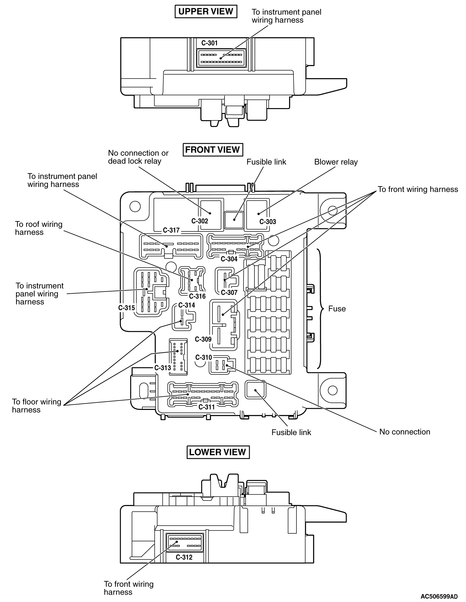 mmc аутлендер xl электросхема ETACS-ECU