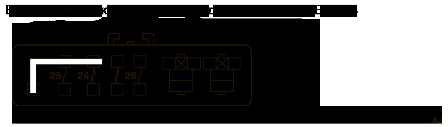 mmc аутлендер 3 2019 электросхема МОНТАЖНЫЙ БЛОК