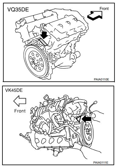 где номер двигателя инфинити