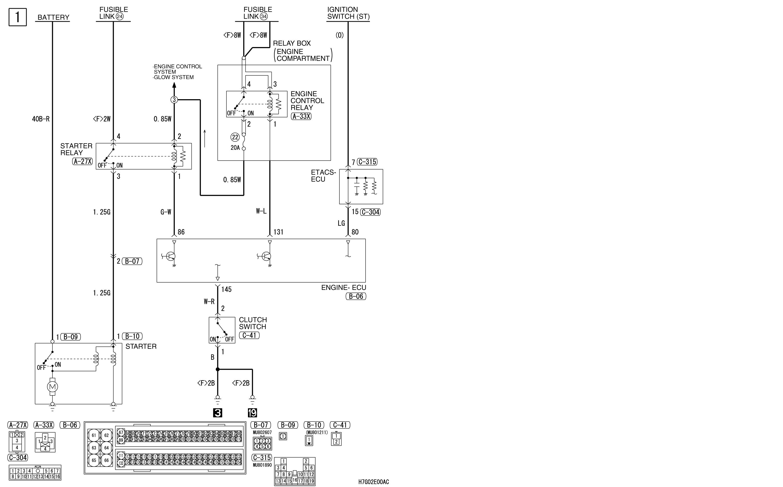 mmc аутлендер xl электросхема STARTING SYSTEM