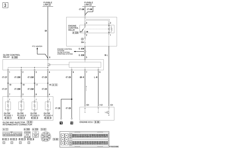 mmc аутлендер xl электросхема GLOW SYSTEM