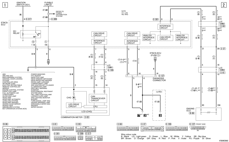 mmc аутлендер xl электросхема CHARGING SYSTEM