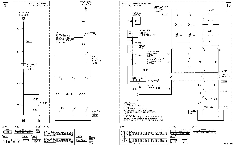 mmc аутлендер xl электросхема ENGINE CONTROL SYSTEM