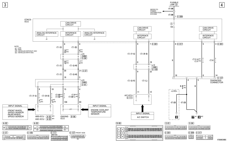mmc аутлендер xl электросхема COOLING SYSTEM