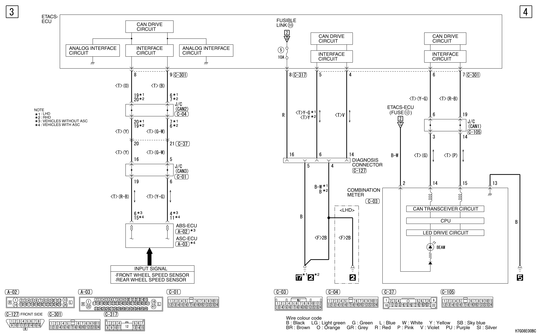 mmc аутлендер xl электросхема HEADLAMP HALOGEN  TYPE (WITHOUT DAYTIME RUNNING LAMP)