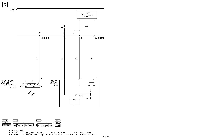 mmc аутлендер xl электросхема HEADLAMP HALOGEN  TYPE (WITH DAYTIME RUNNING LAMP)