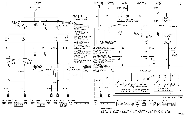 mmc аутлендер xl электросхема HEADLAMP DISCHARGE  TYPE