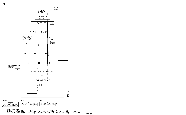 mmc аутлендер xl электросхема FRONT FOG LAMP