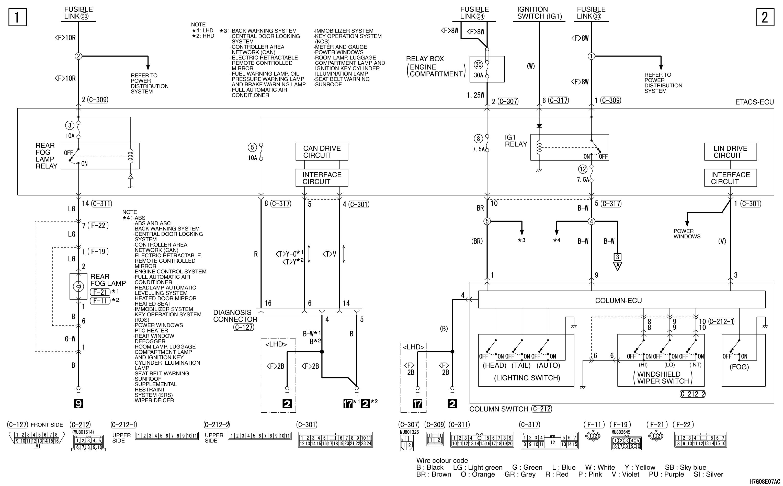 mmc аутлендер xl электросхема REAR FOG LAMP