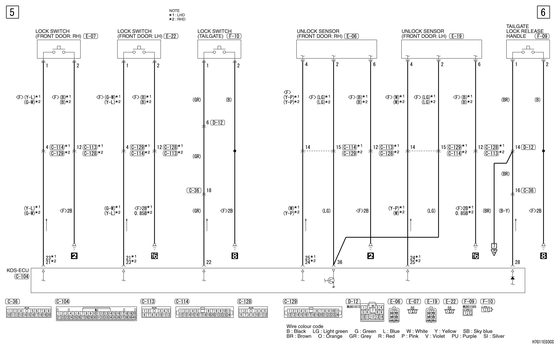 mmc аутлендер xl электросхема KOS