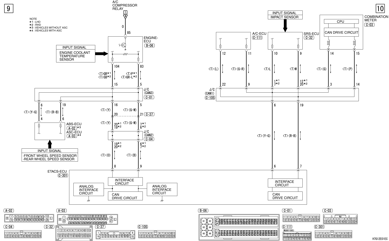 mmc аутлендер xl электросхема AUTOMATIC AIR CONDITIONER