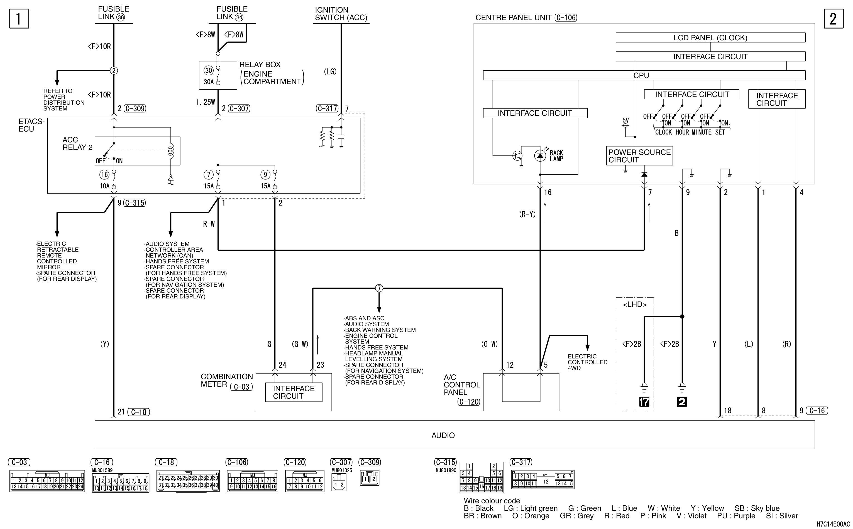 mmc аутлендер xl электросхема CLOCK