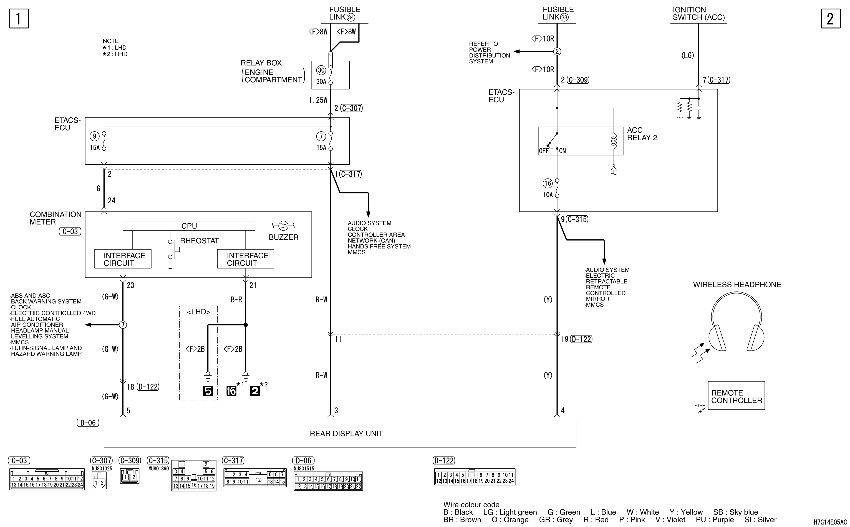 mmc аутлендер xl электросхема REAR MONITOR