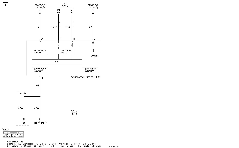 mmc аутлендер xl электросхема ABS WITHOUT  ASC