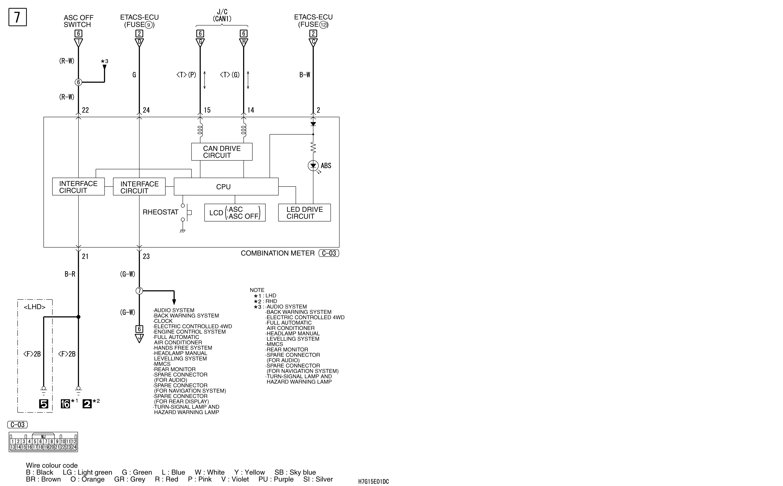 mmc аутлендер xl электросхема ABS AND ASC