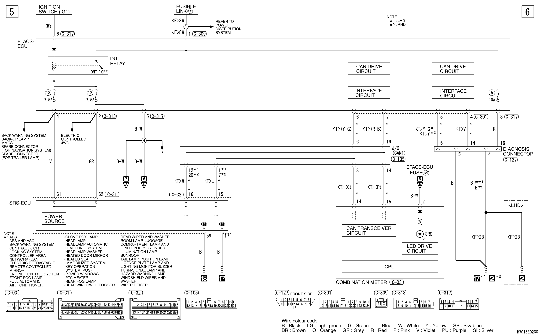 mmc аутлендер xl электросхема SRS