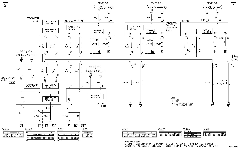 mmc аутлендер xl электросхема CAN