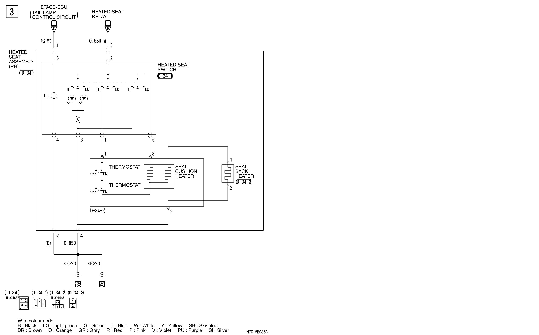 mmc аутлендер xl электросхема HEATED SEAT