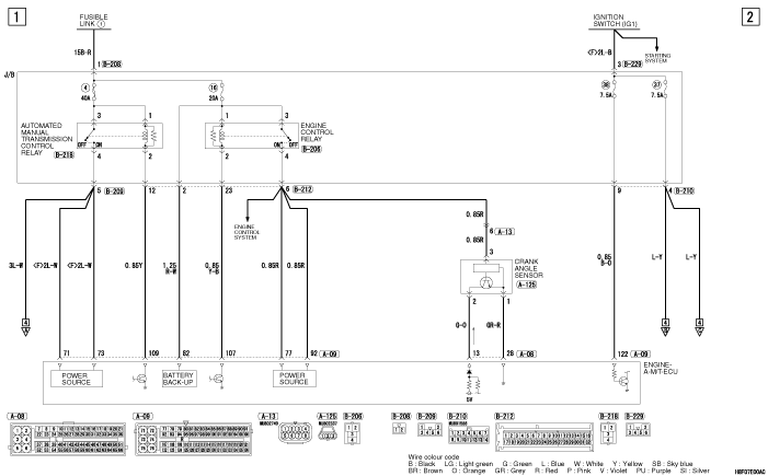 Электросхема MMC Colt 2008 часть 2
