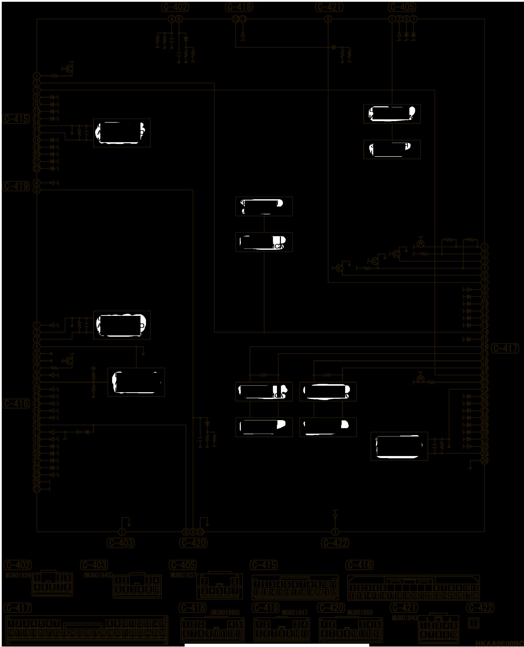 mmc аутлендер 3 2019 электросхемаЭБУ ETACS