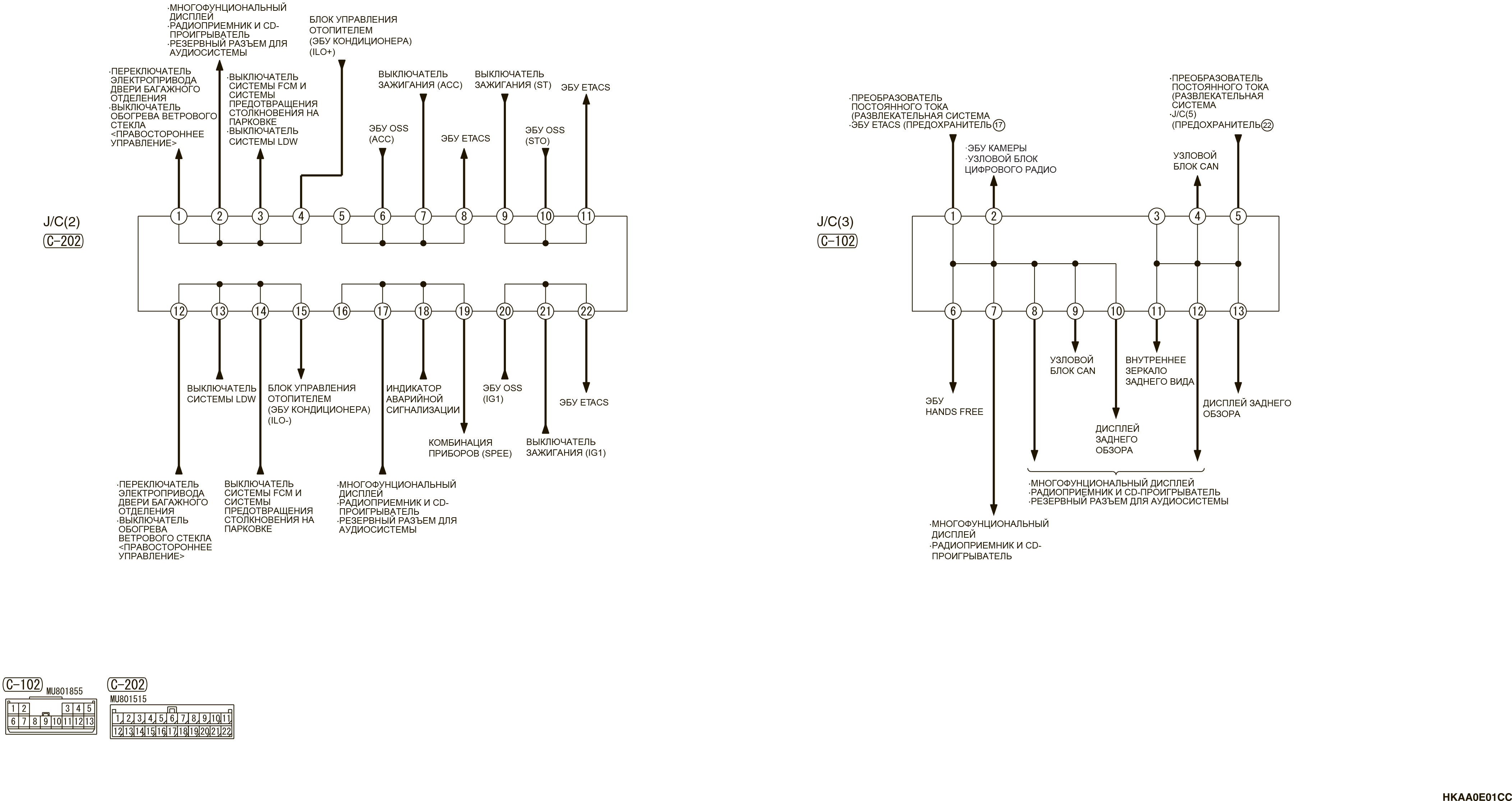 mmc аутлендер 3 2019 электросхемаJ/C