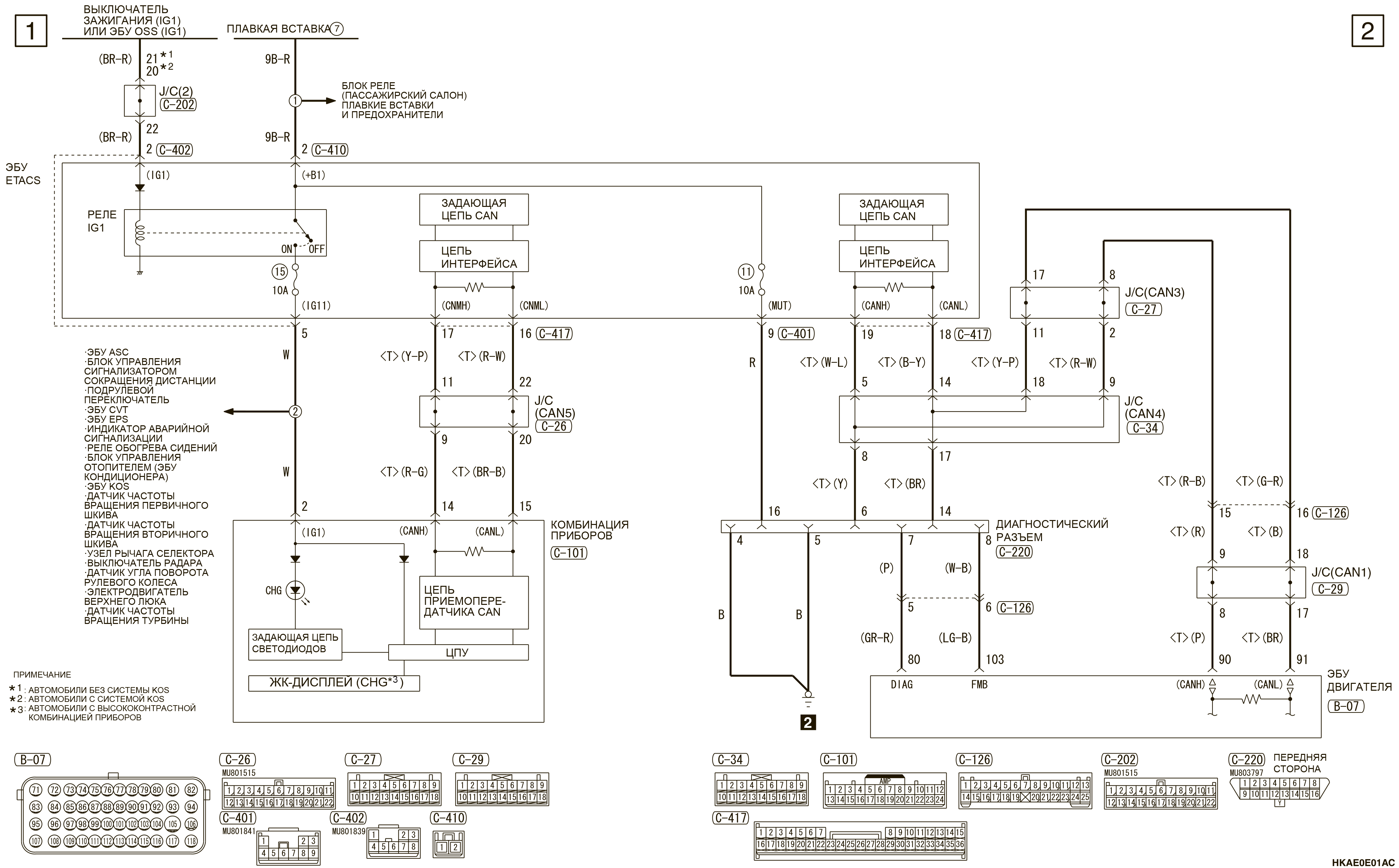 mmc аутлендер 3 2019 электросхемаСИСТЕМА ЭЛЕКТРОСНАБЖЕНИЯ 4B1 (ПРАВАЯ)