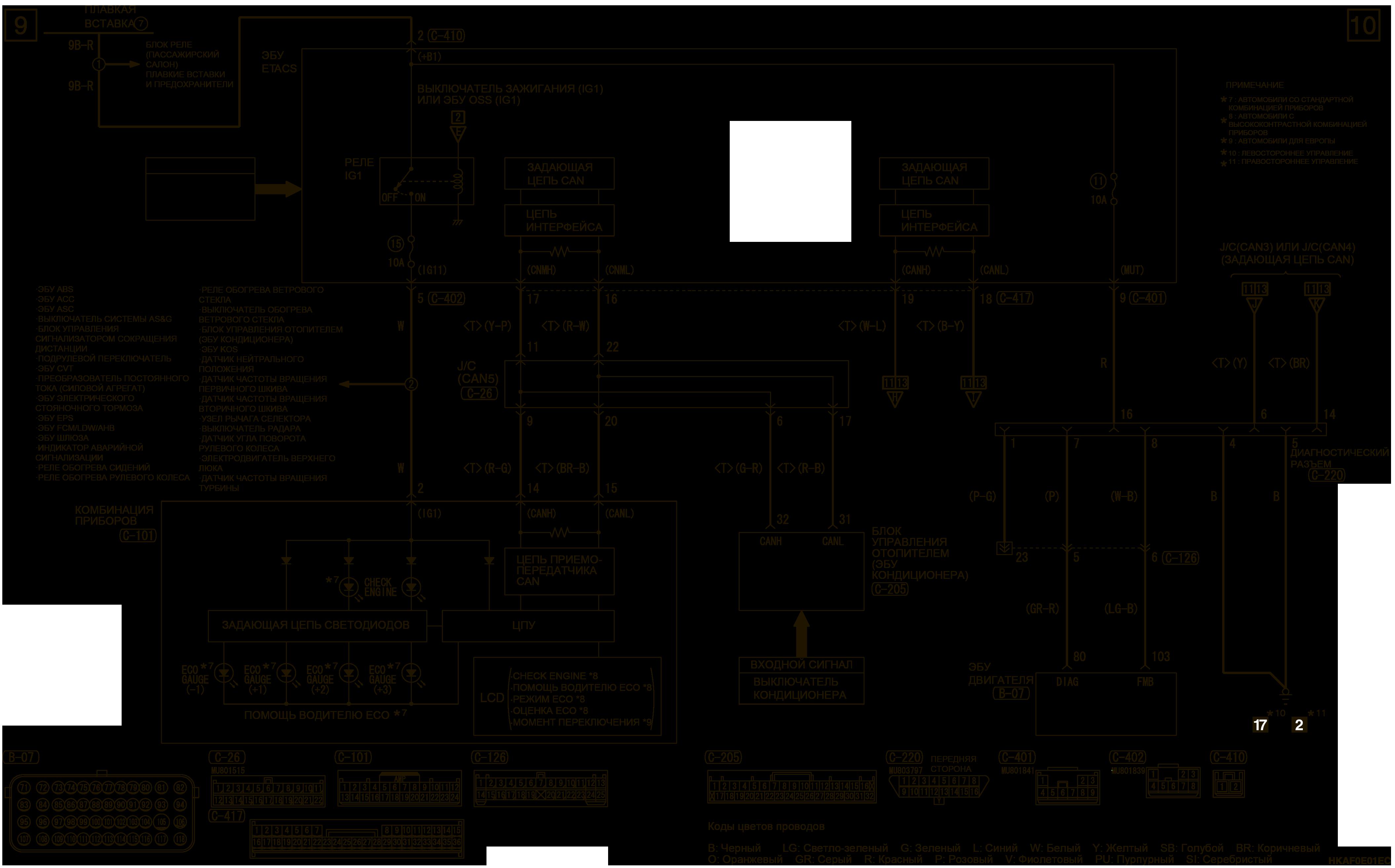 mmc аутлендер 3 2019 электросхемаСИСТЕМА УПРАВЛЕНИЯ ДВИГАТЕЛЕМ 4J1
