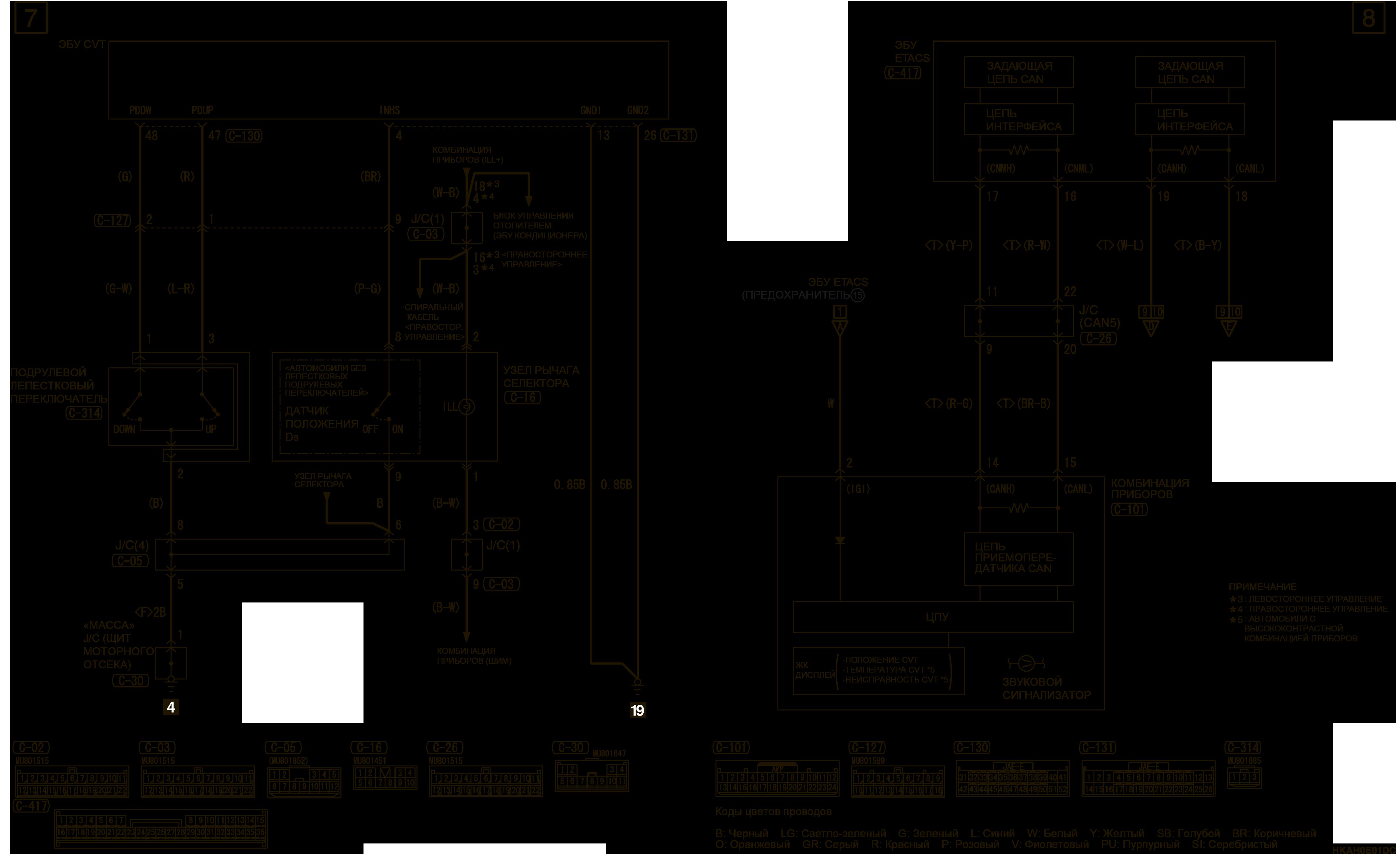 mmc аутлендер 3 2019 электросхемаCVT АВТОМОБИЛИ БЕЗ СИСТЕМЫ AS&G