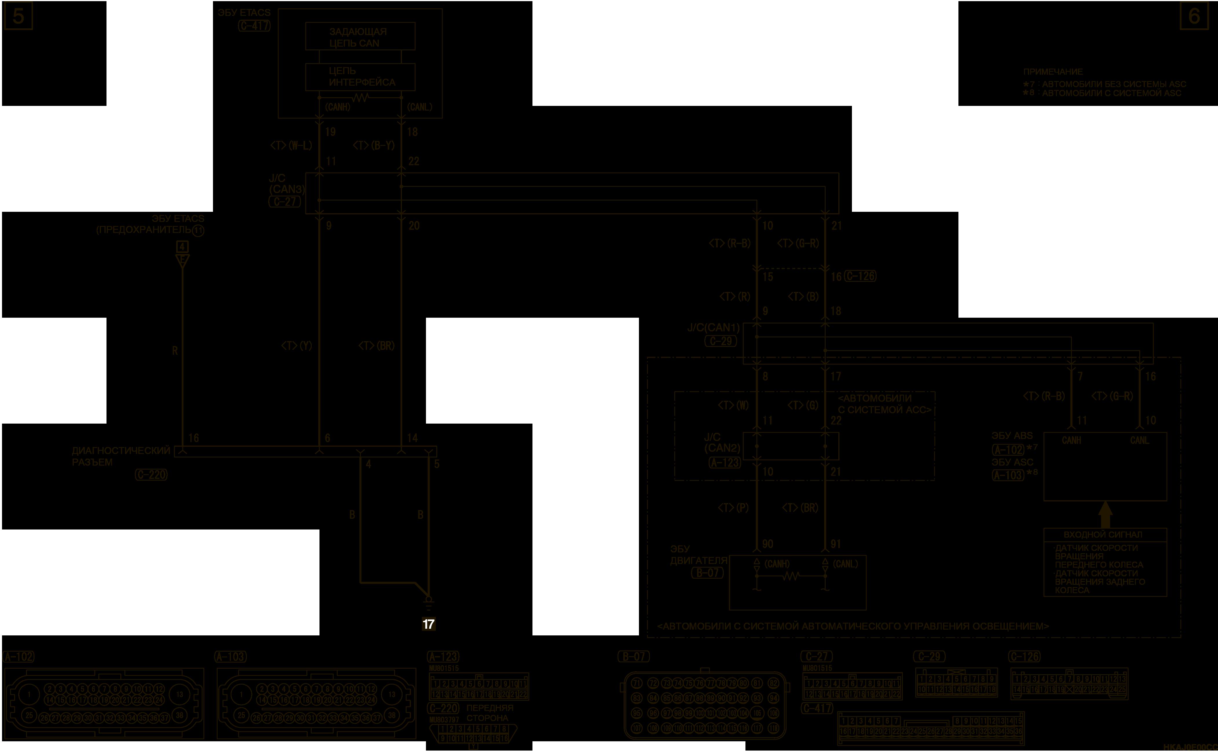 mmc аутлендер 3 2019 электросхемаФАРА левая