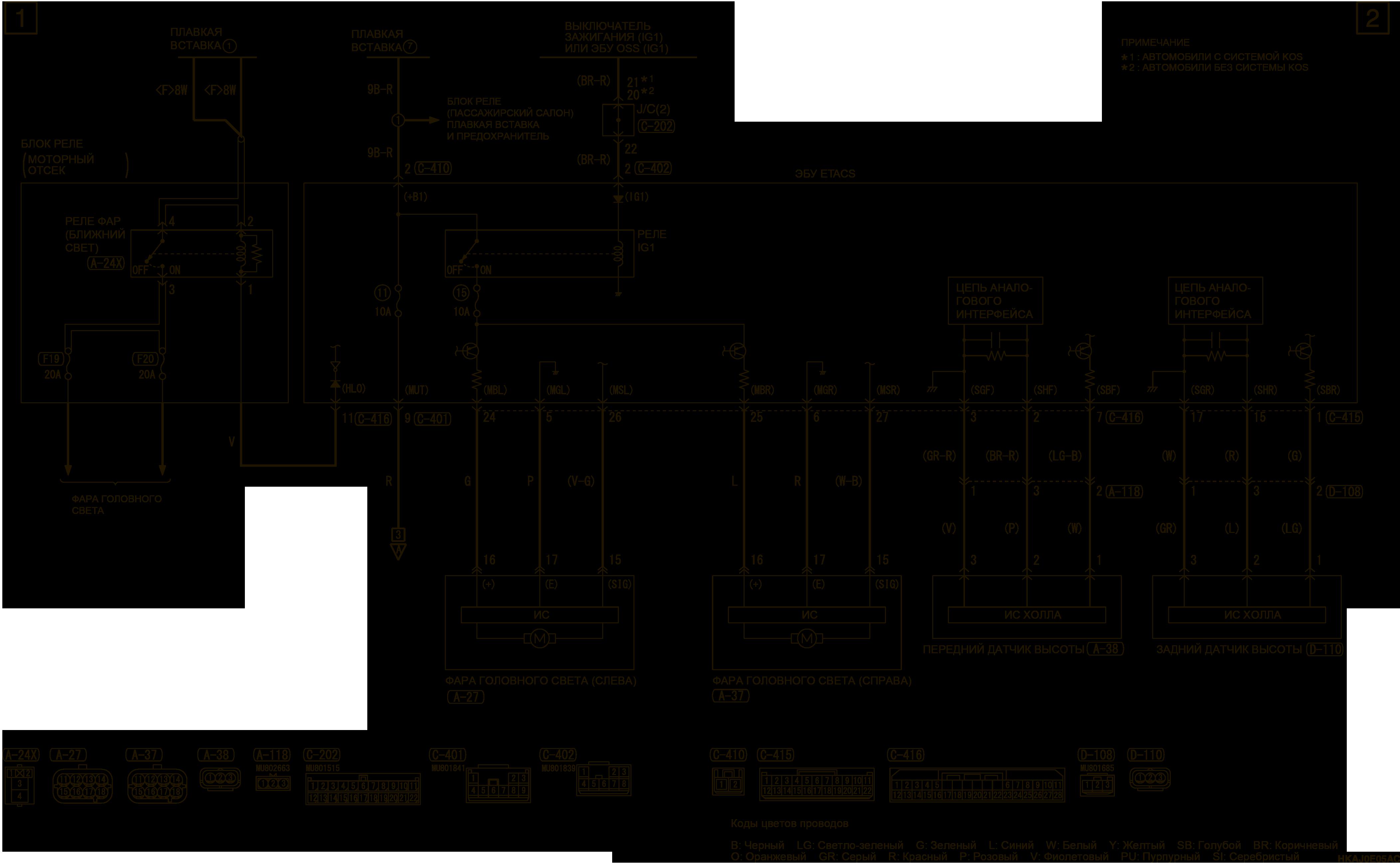 mmc аутлендер 3 2019 электросхемаСИСТЕМА АВТОМАТИЧЕСКОГО УПРАВЛЕНИЯ ОСЯМИ СВЕТА ФАР ЛЕВОСТОРОННЕЕ УПРАВЛЕНИЕ