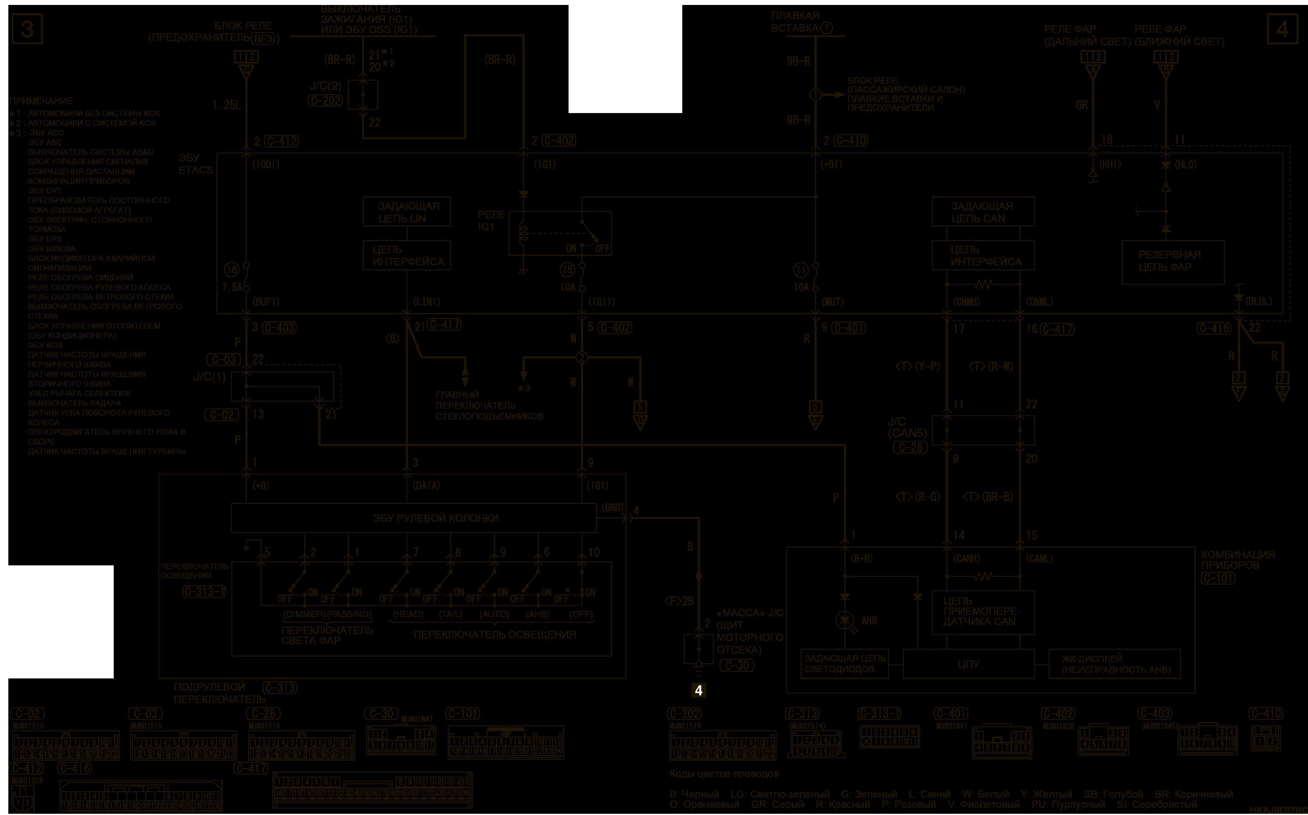 mmc аутлендер 3 2019 электросхемаСИСТЕМА АВТОМАТИЧЕСКОГО ПЕРЕКЛЮЧЕНИЯ ДАЛЬНЕГО СВЕТА ЛЕВОСТОРОННЕЕ УПРАВЛЕНИЕ