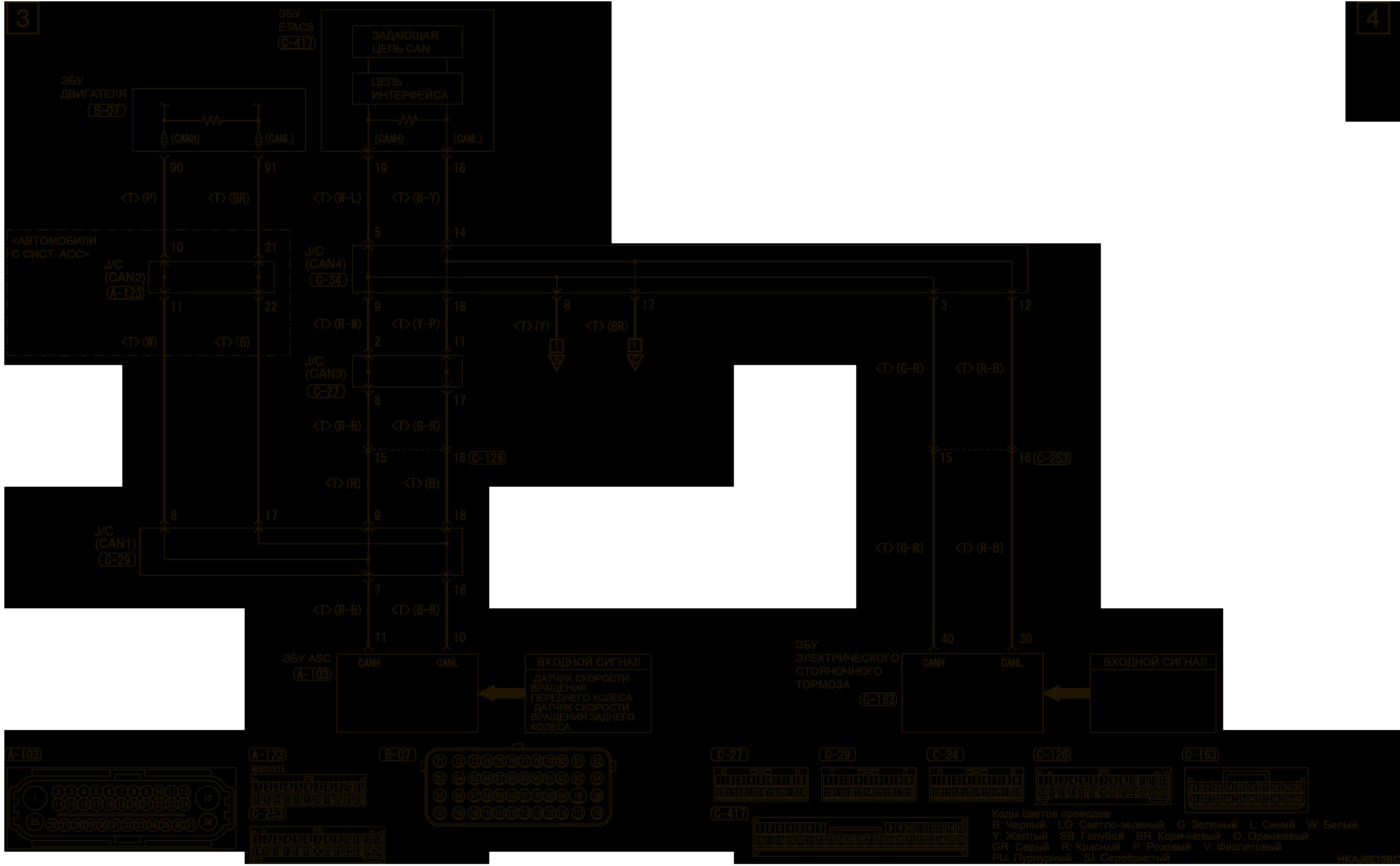 mmc аутлендер 3 2019 электросхемаДНЕВНЫЕ ХОДОВЫЕ ОГНИ (DRL) ПРАВОСТОРОННЕЕ УПРАВЛЕНИЕ