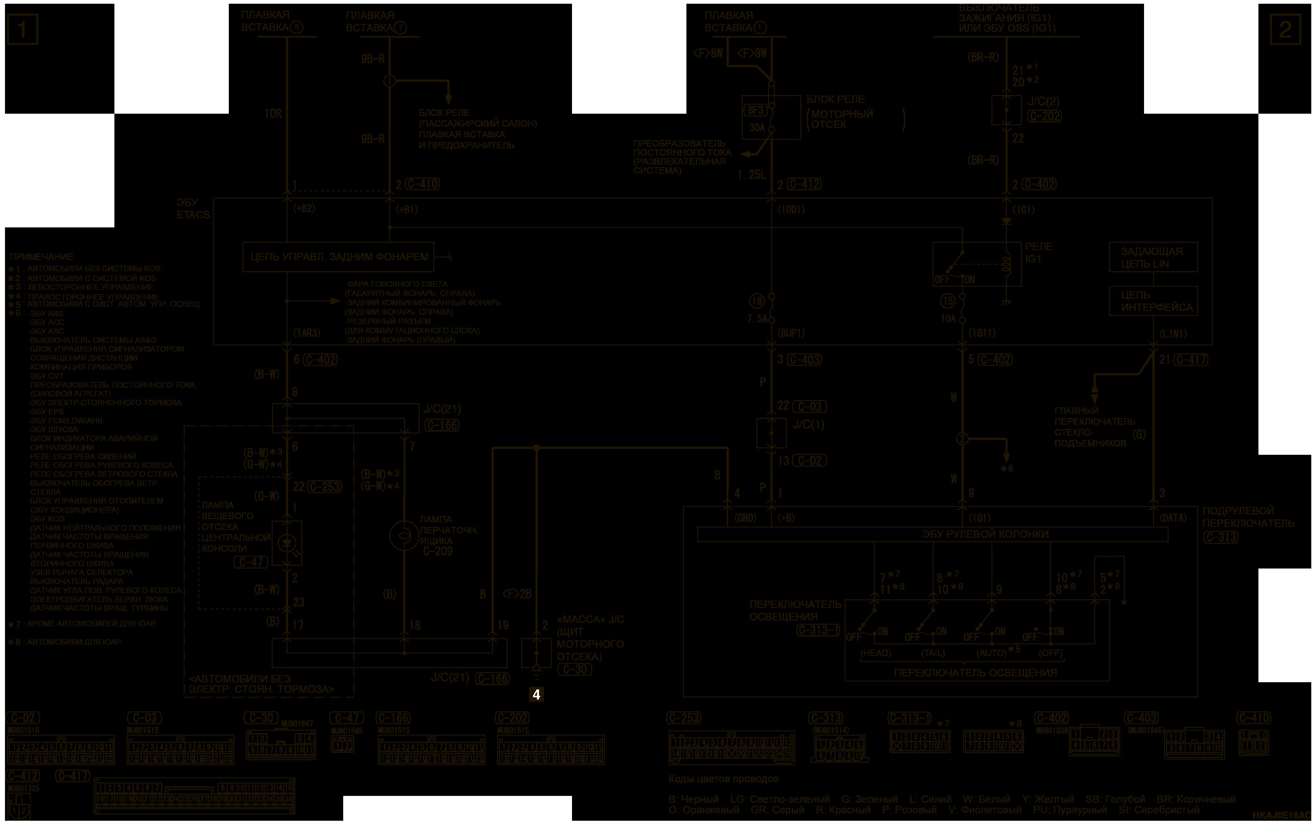mmc аутлендер 3 2019 электросхемаЛАМПА ВЕЩЕВОГО ОТСЕКА ЦЕНТРАЛЬНОЙ КОНСОЛИ И ЛАМПЫ ПОДСВЕТКИ ПЕРЧАТОЧНОГО ЯЩИКА