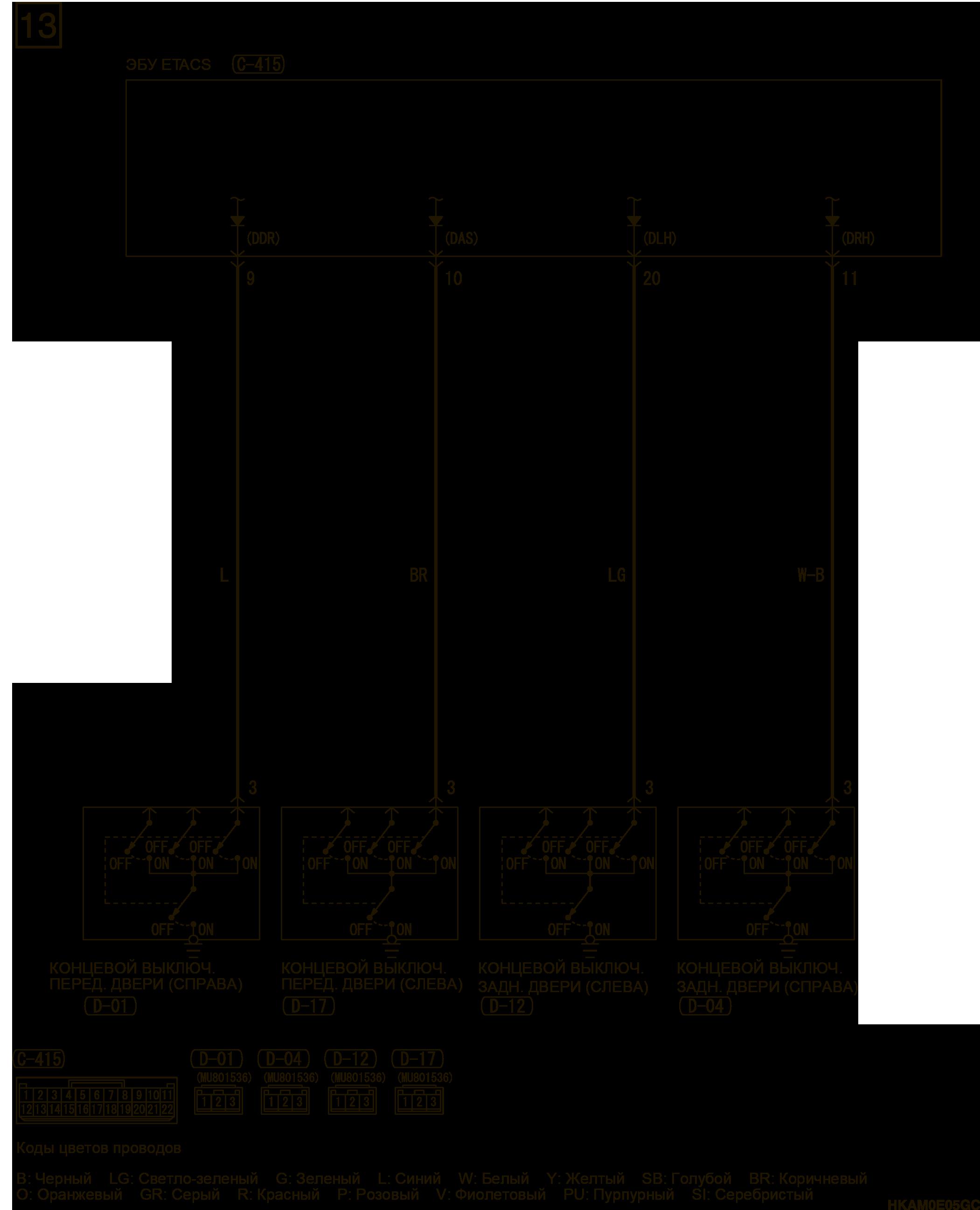 mmc аутлендер 3 2019 электросхемаСИСТЕМА ЦЕНТРАЛЬНОЙ БЛОКИРОВКИ ЗАМКОВ ДВЕРЕЙ АВТОМОБИЛИ С СИСТЕМОЙ KOS ПРАВАЯ СТОРОНА