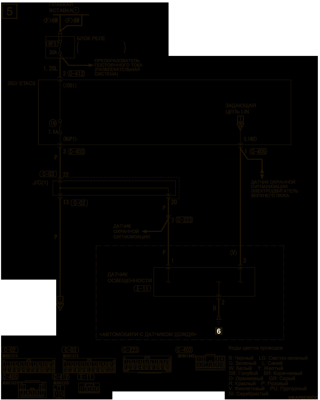 mmc аутлендер 3 2019 электросхемаПЕРЕДНИЙ СТЕКЛООЧИСТИТЕЛЬ И ОМЫВАТЕЛЬ ЛЕВАЯ СТОРОНА