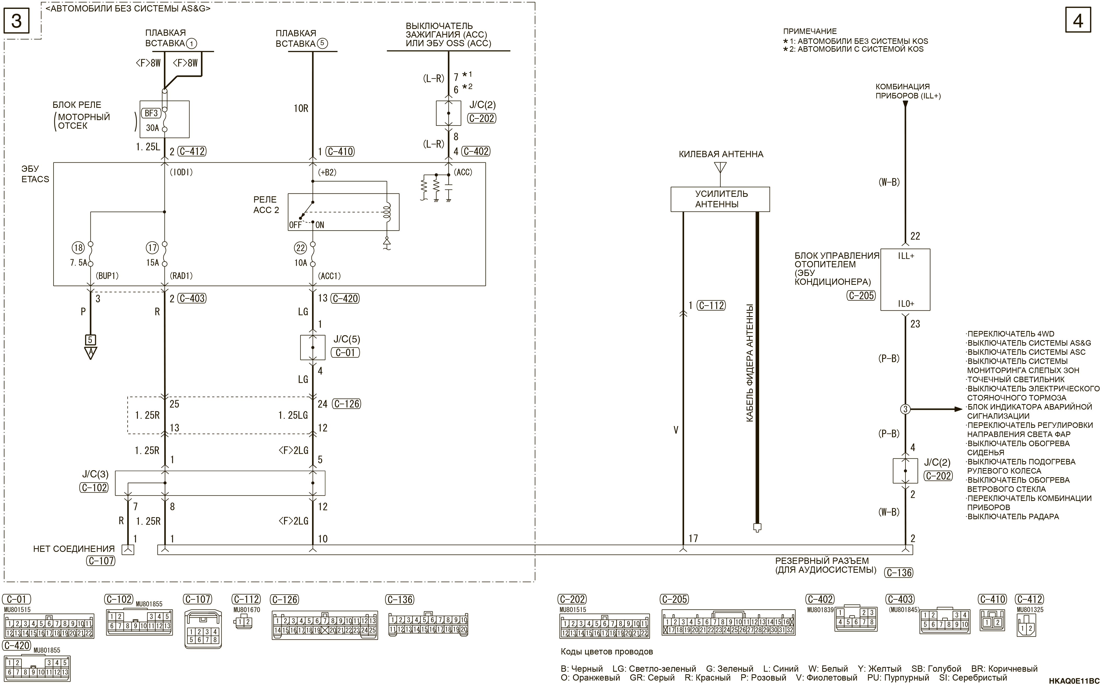 mmc аутлендер 3 2019 электросхемаРЕЗЕРВНЫЙ РАЗЪЕМ (ДЛЯ АУДИОСИСТЕМЫ) ПРАВОСТОРОННЕЕ УПРАВЛЕНИЕ