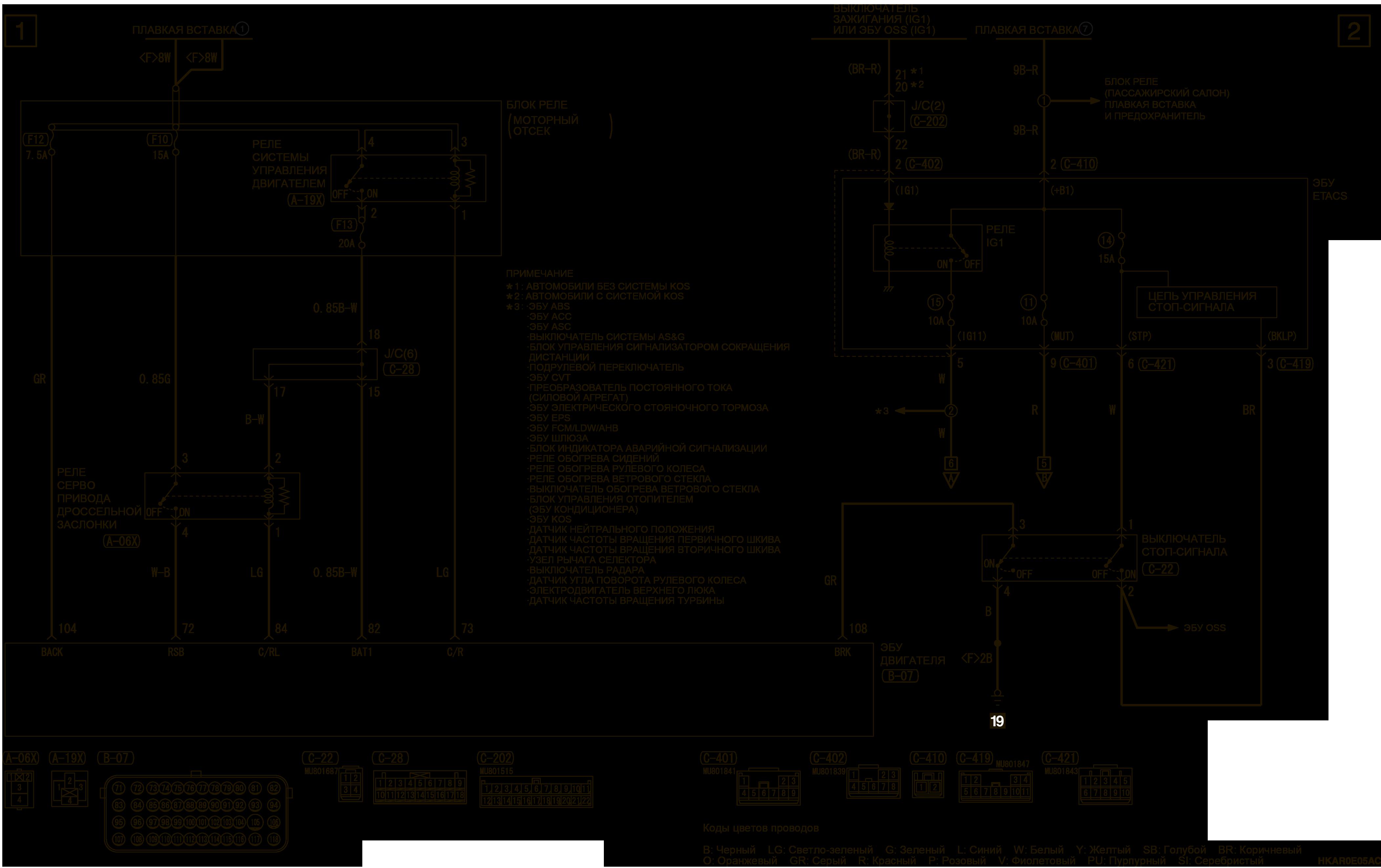 mmc аутлендер 3 2019 электросхемаКРУИЗ-КОНТРОЛЬ ЛЕВОСТОРОННЕЕ УПРАВЛЕНИЕ