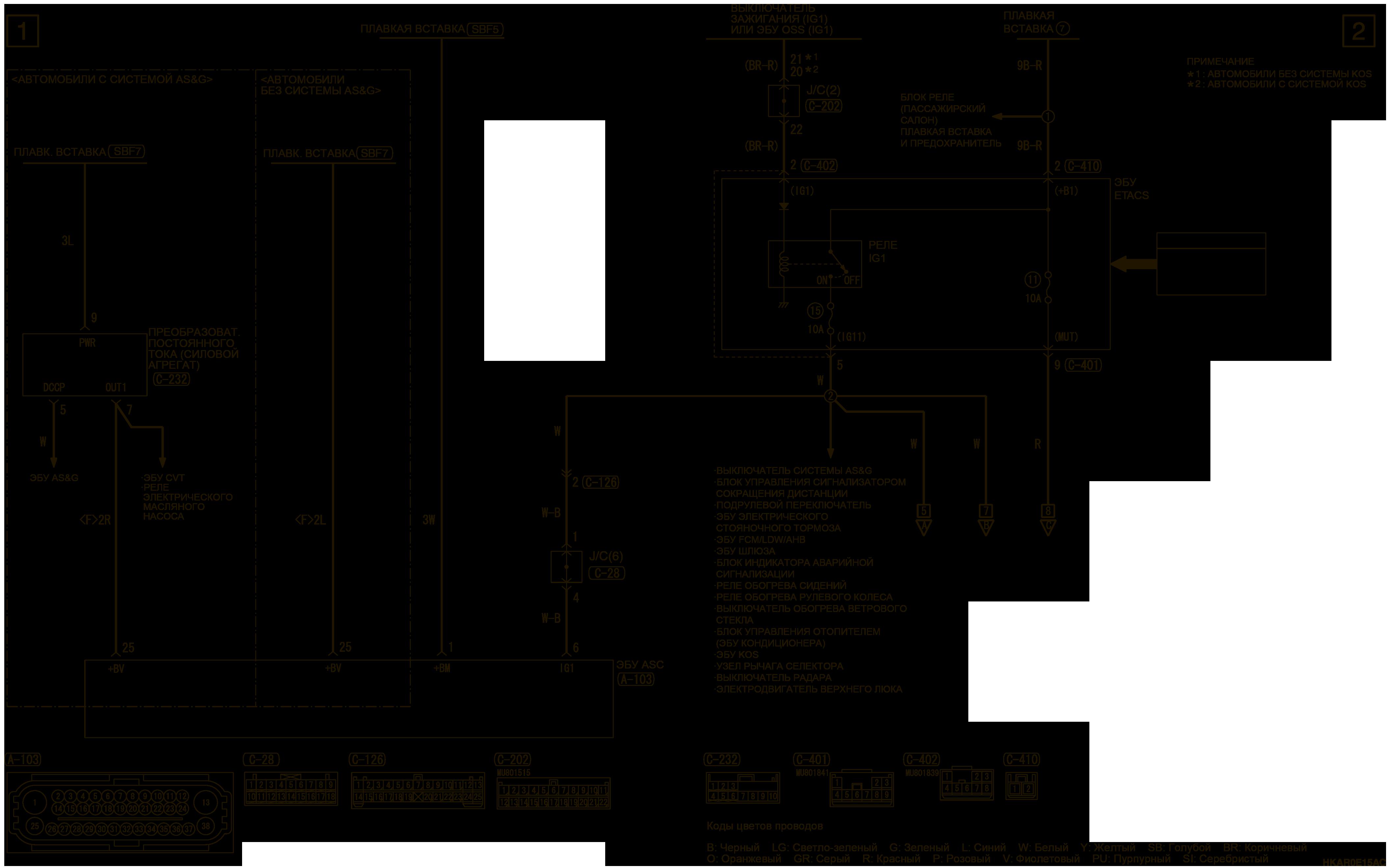 mmc аутлендер 3 2019 электросхемаСИСТЕМА ДИНАМИЧЕСКОЙ СТАБИЛИЗАЦИИ (ASC) И СИСТЕМА ПОМОЩИ ПРИ ТРОГАНИИ НА ПОДЪЕМЕ (HSA) ПРАВОСТОРОННЕЕ УПРАВЛЕНИЕ