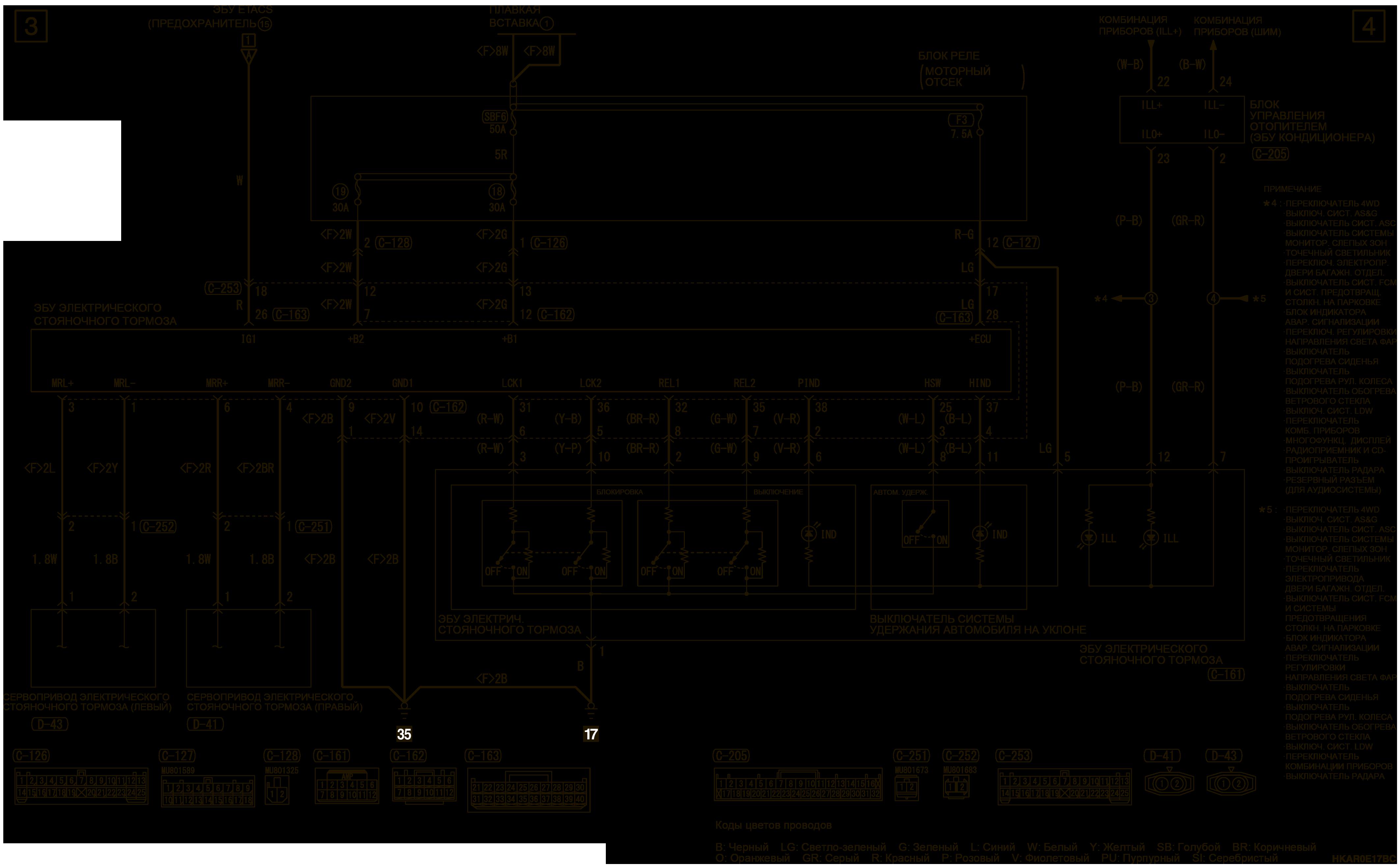 mmc аутлендер 3 2019 электросхемаЭЛЕКТРИЧЕСКИЙ СТОЯНОЧНЫЙ ТОРМОЗ ПРАВОСТОРОННЕЕ УПРАВЛЕНИЕ