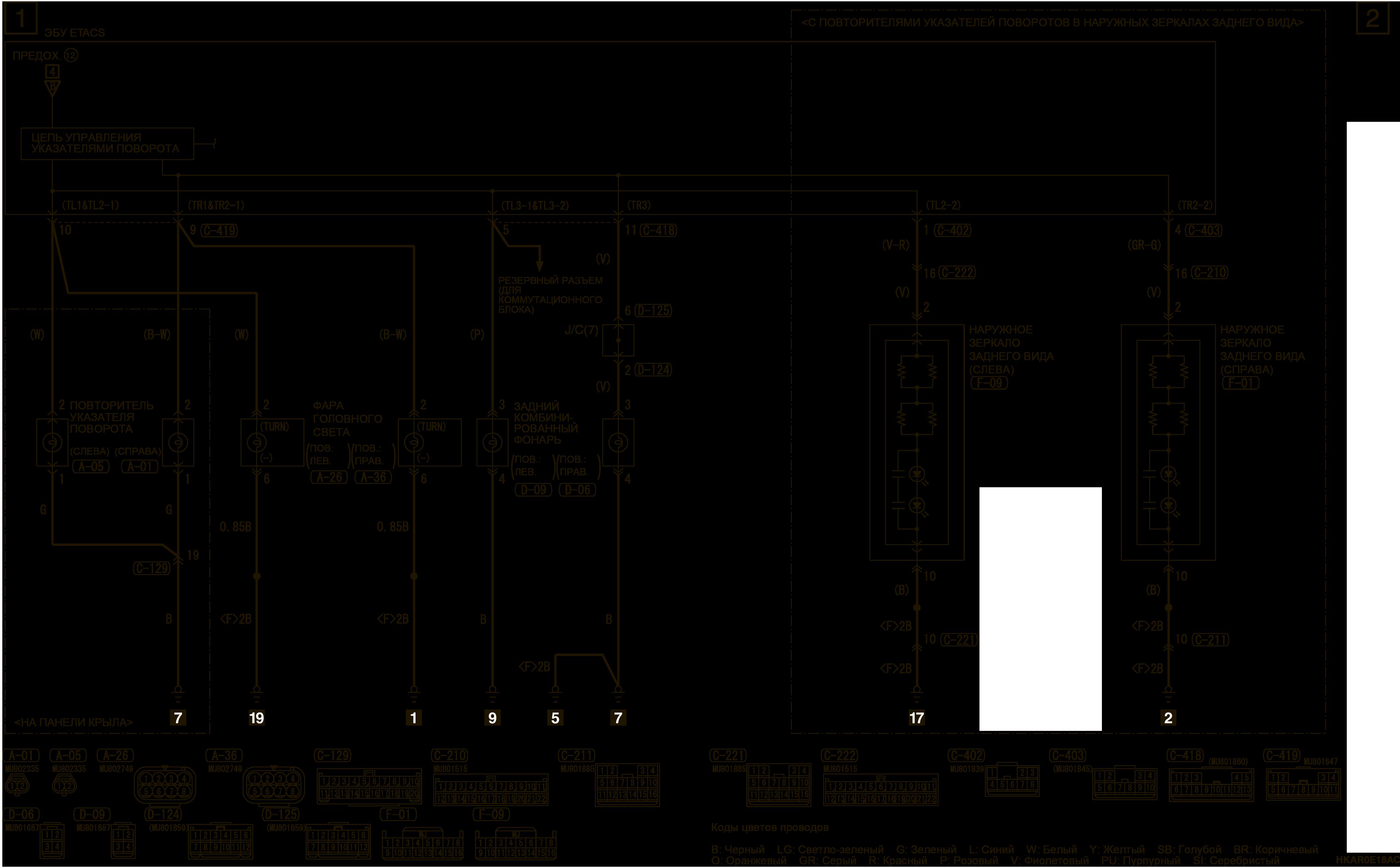mmc аутлендер 3 2019 электросхемаСИСТЕМА ПРЕДУПРЕЖДЕНИЯ ОБ ЭКСТРЕННОМ ТОРМОЖЕНИИ (ESS) АВТОМОБИЛИ ДЛЯ ЕВРОПЫ (ЛЕВОСТОРОННЕЕ УПРАВЛЕНИЕ)
