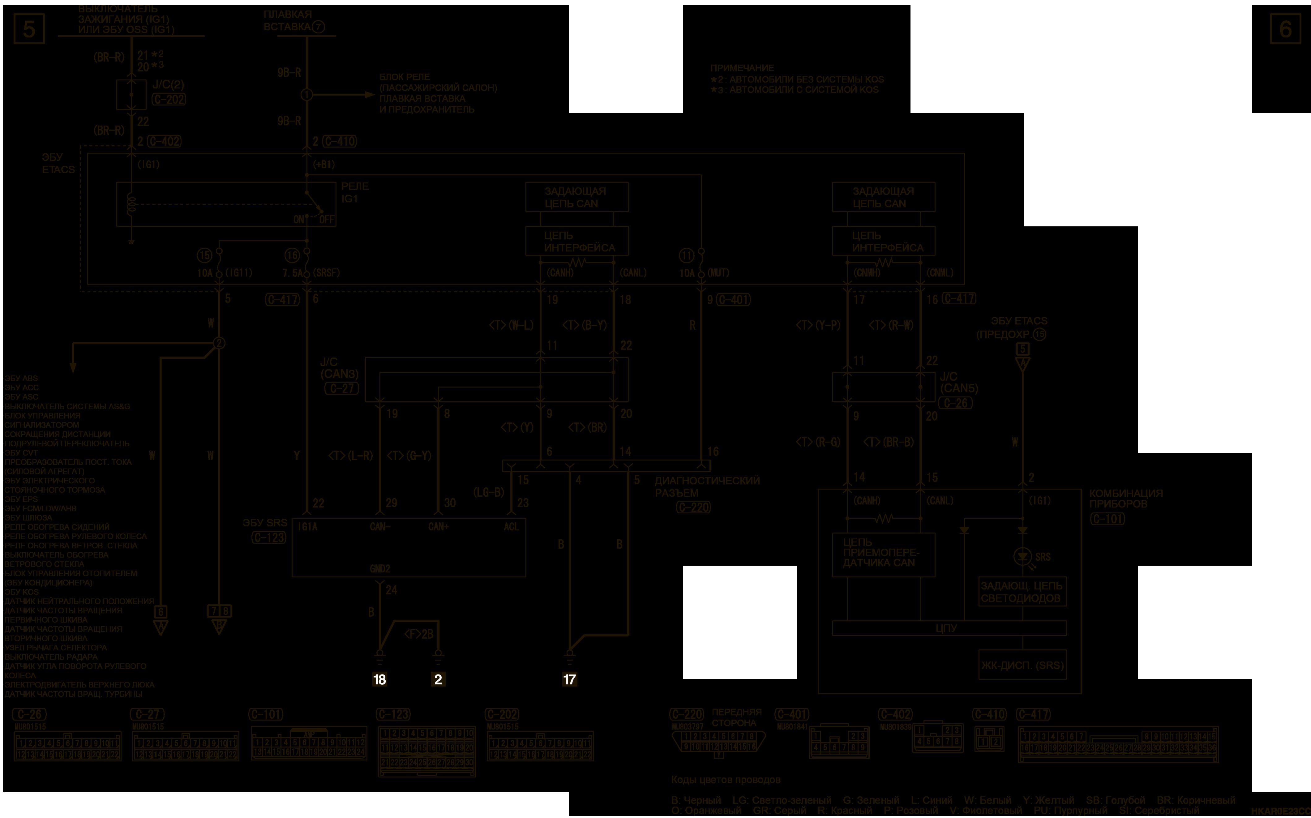 mmc аутлендер 3 2019 электросхемаSRS Слева
