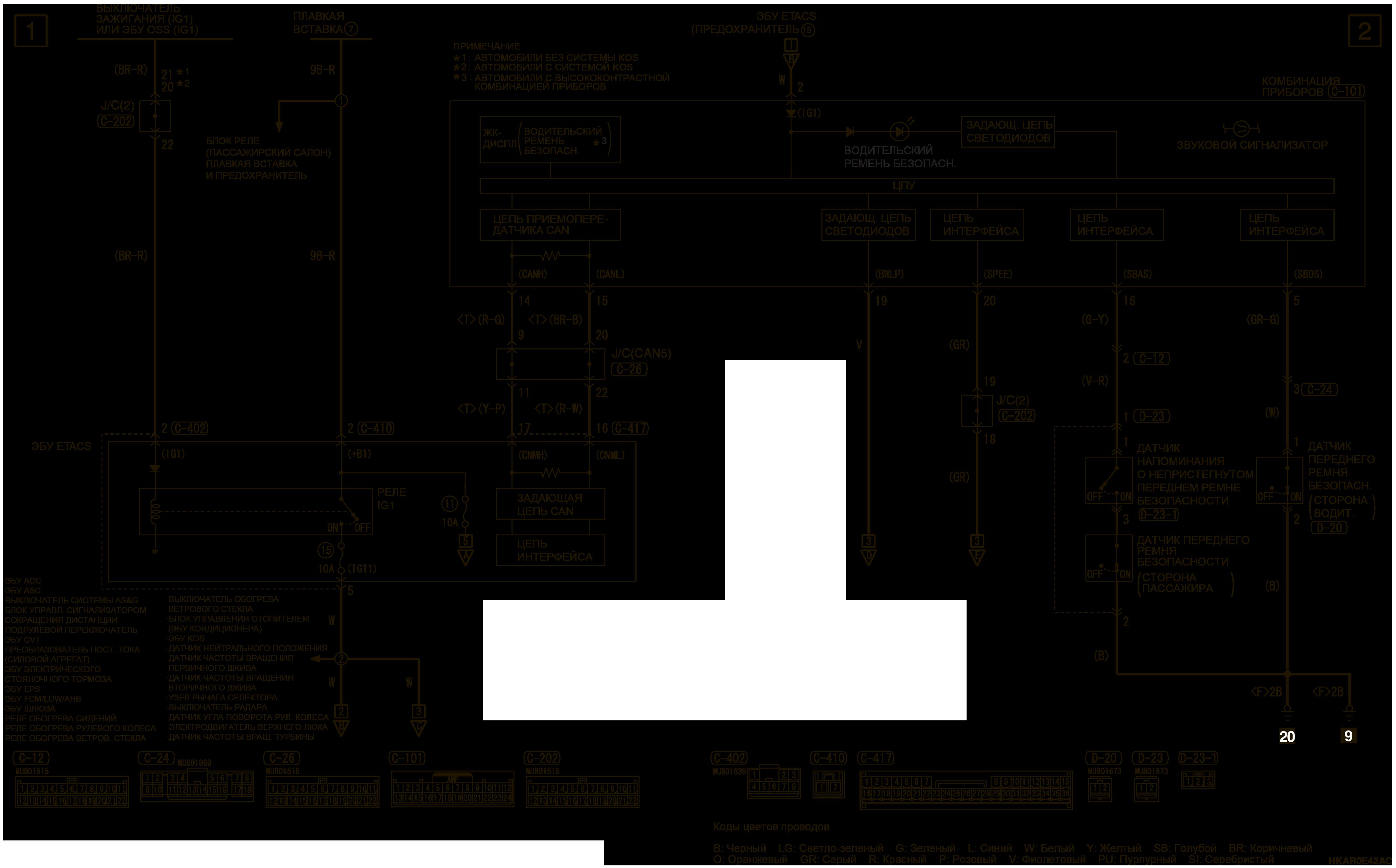 mmc аутлендер 3 2019 электросхемаСИГНАЛИЗАТОР РЕМНЯ БЕЗОПАСНОСТИ АВТОМОБИЛИ ДЛЯ ЕВРОПЫ (ЛЕВОСТОРОННЕЕ УПРАВЛЕНИЕ)