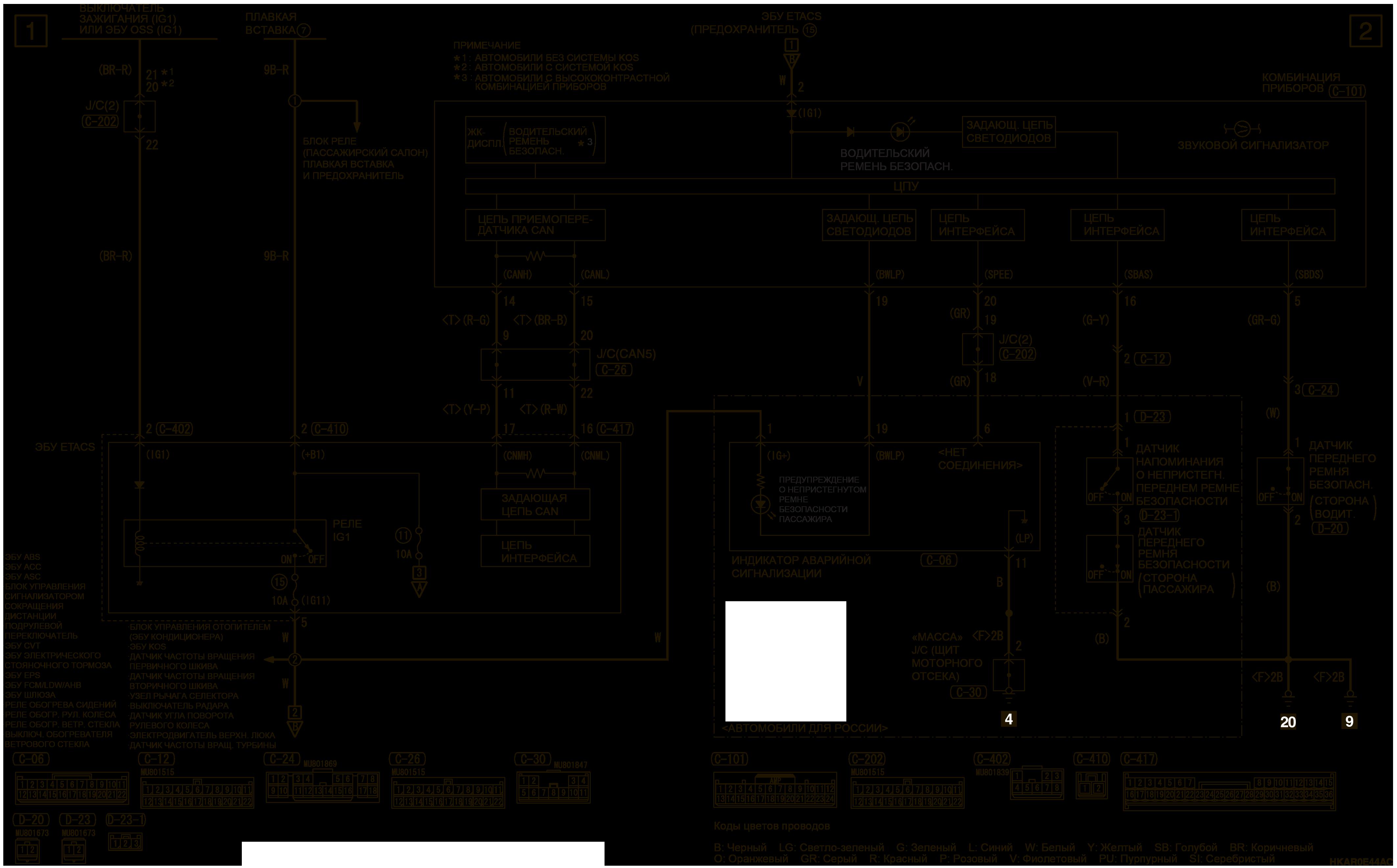 mmc аутлендер 3 2019 электросхемаСИГНАЛИЗАТОР РЕМНЯ БЕЗОПАСНОСТИ АВТОМОБИЛИ ДЛЯ РОССИИ И АРГЕНТИНЫ