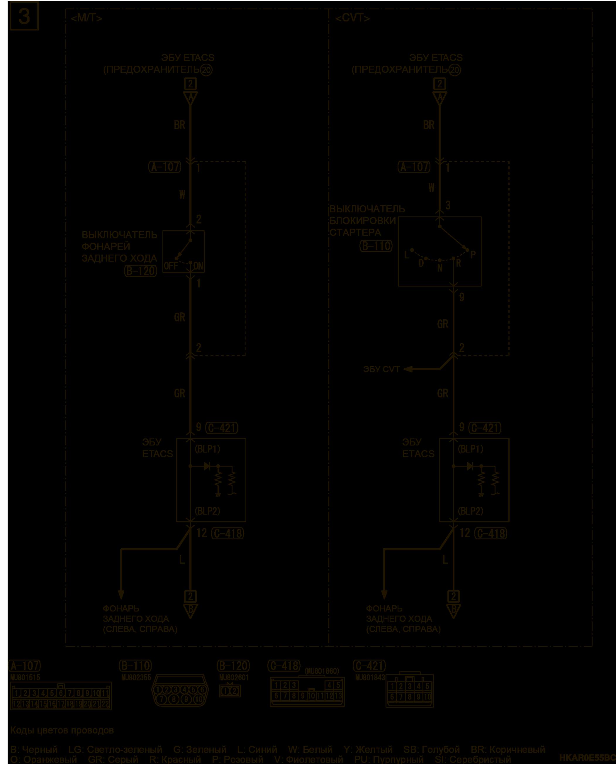 mmc аутлендер 3 2019 электросхемаРЕЗЕРВНЫЙ РАЗЪЕМ (ДЛЯ ЛАМП ПРИЦЕПА)